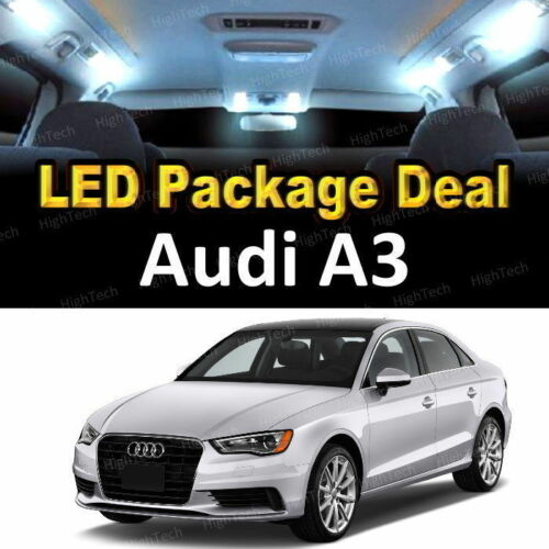 16 PCS LED Lights For 2009 2010 2011 2012 Audi A4 Kit Interior Package WHITE