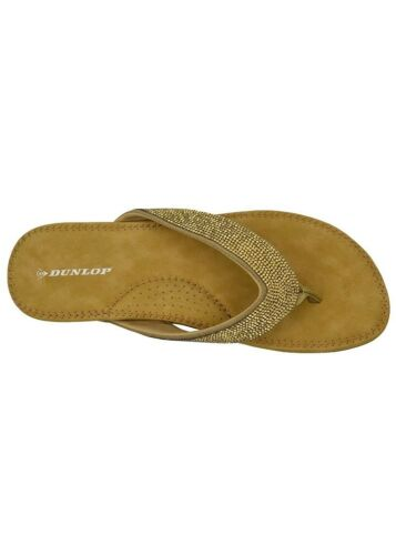 Dunlop Flip Flops Toe Post Slip On Sandals Memory Foam Ladies