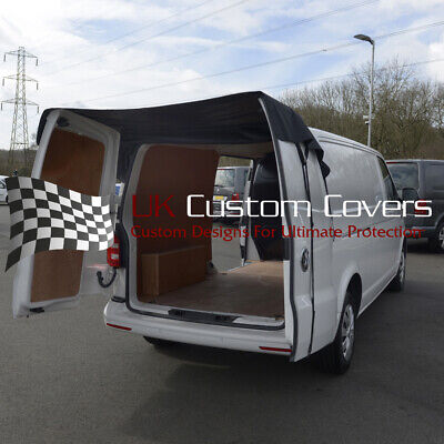 UK Custom Covers BDC401AD2 Rear Barn Door Awning Cover Black