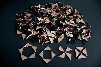 50 # Mosaic Royal Blue Mirror Tiles Triangular approx 1 x 1 x 1,5 cm