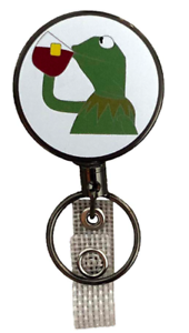 Kermit That/'s None of My Business Heavy Duty Retractable Badge Holder Key Ring