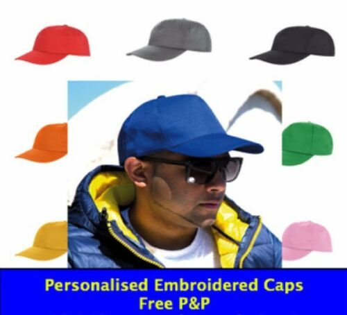 Text on a cap Embroidered Baseball cap Personalised Funny Silly Music Artist