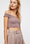 NEW-Free-People-Intimately-Smocked-Crop-Top-in-Mink-Size-XS-S-amp-M-L-54-11 thumbnail 3