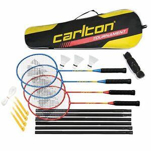 Carlton-4-Player-Badminton-Set-with-4-Badminton-Rackets-Net-amp-3-Shuttlecocks