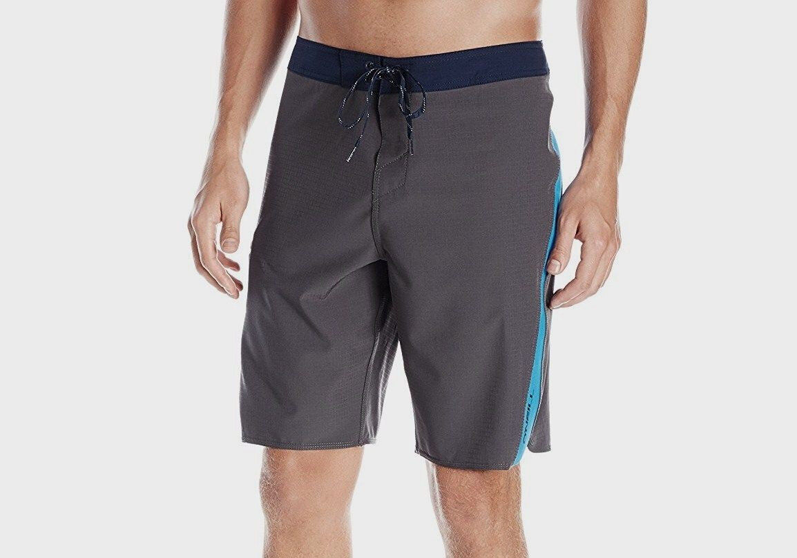 O'NEILL Men's SUPERFREAK SCALLOP SOLID Boardshorts - DCH - Size 28 - NWT