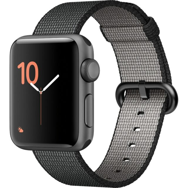 Apple Watch Series 2 38mm Aluminum Case Black Classic Buckle Mp052ll A For Sale Online Ebay