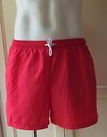 American Apparel Men Board Shorts Swimwear Resort Swim Trunk Bright Red Large