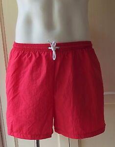 American-Apparel-Men-Board-Shorts-Swimwear-Resort-Swim-Trunk-Bright-Red-Large