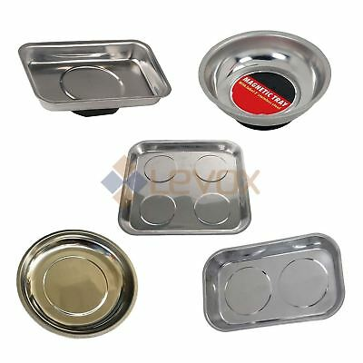 Magnetic Metal Parts Tray Bowl Storage Garage Dish Nut Screw Bolt Holder
