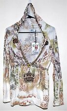 SPY ZONE EXCHANGE BOUTIQUE WOMENS HANDCRAFTED HOODIE CELEBRITY SOFT SMALL 3952