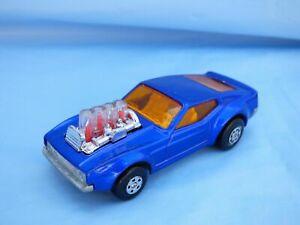 Vintage-Matchbox-Rolamatics-10-Piston-Popper-1969-Ford-Mustang-Mach-II-Azul-Juguete