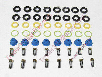 Fuel Injector Servicer Repair KitFord Lincoln 4.6 5.4 Mustang O-Rings Pintle Cap