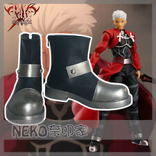 Fate Stay Night Fate Zero Archer Emiya Cosplay Shoes Boots Customized