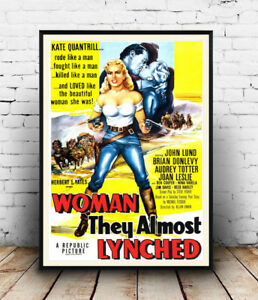 Woman-they-almost-lynched-old-Movie-Reproduction-poster-Wall-art