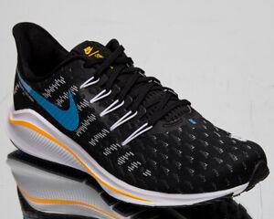 Dettagli su Nike Air Zoom Vomero 14 Uomo Nero University Blu Bianco Corsa Scarpe da Tennis