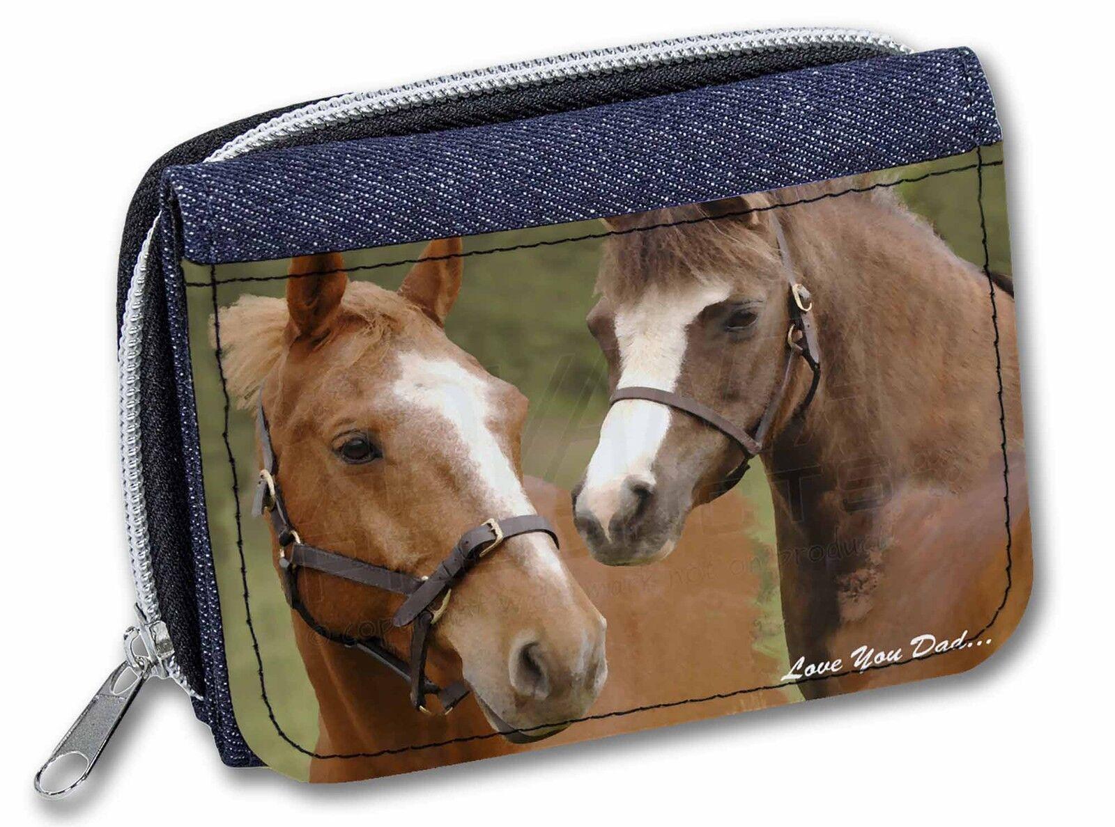 Horse Montage 'Love You Dad' Girls/Ladies Denim Purse Wallet Christma, DAD-142JW