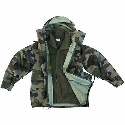 French Army Gore Tex Type Camo Jacket Waterproof Parka CCE XL XXL XXXL Fleece