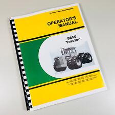 Operators Manual For John Deere 8850 Tractor Owners Maintenance Book Adjustment