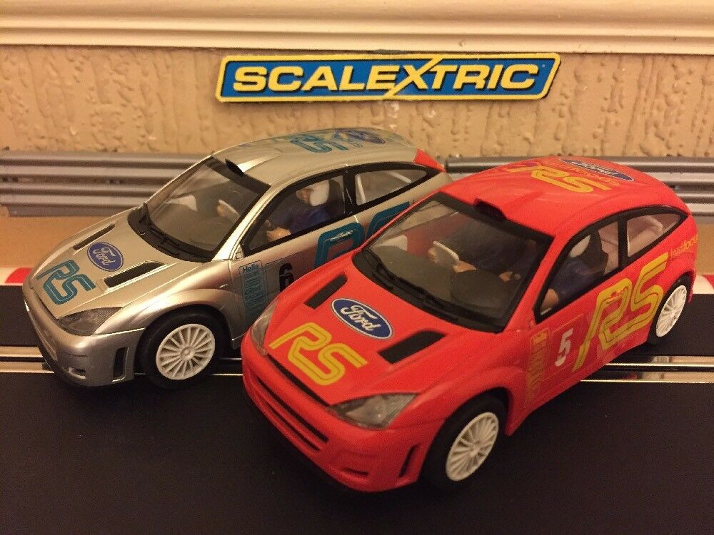Scalextric RS Ford Focus No5 & No6 Very Rare Collectable Cars Fully Serviced