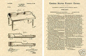 CRAPS-TABLE-US-Patent-Art-Print-READY-TO-FRAME-Vintage-1901-Dice-gaming-table