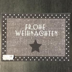 53-96-qm-Fussmatte-Frohe-Weihnachten-D-917-Grau-Taupe-Schrift-40-cm-60-cm