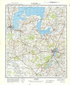 Russian Soviet Military Topographic Maps VIBORG Denmark1100 000