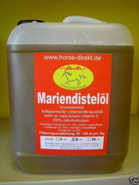 Mariendistelöl, 100 % rein, kaltgepresst  10 Liter für 59,--€( 59,--€( 59,--€( p 1 Ltr.  ) def933