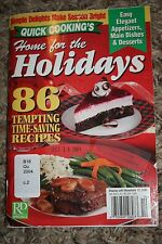 Quick Cooking's Home For The Holidays 2004 86 Tempting Time-Saving Recipes