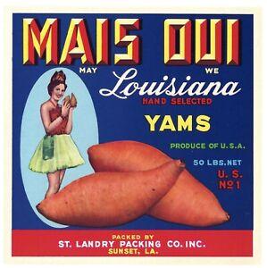 Never used. BRENDA FAYES BEST Louisiana Sweet Potato crate label