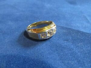 Mens-Crystal-Fashion-Ring-Made-In-USA-Sz-12-13