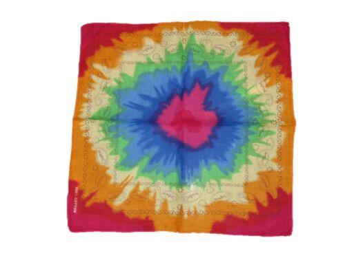"Wholesale Lot 6 22/""x22/"" Paisley Tye Dye Multi Colored Bandana"