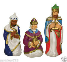 *NEW* 3 Wise Men Set Lighted Christmas Blow Mold Nativity Outdoors Yard Decor