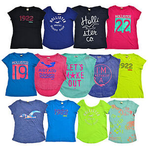 Hollister-by-Abercrombie-Graphic-Tshirt-Womens-Crew-Neck-Short-Sleeve-Tee-V457