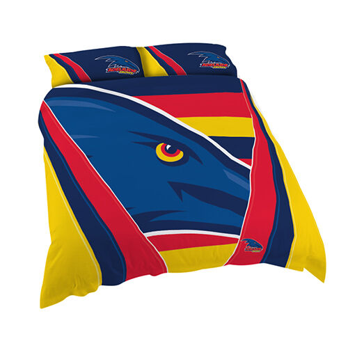 Adelaide Crows AFL QUEEN Bed Quilt Doona Duvet Cover Set *NEW 2019* Gift