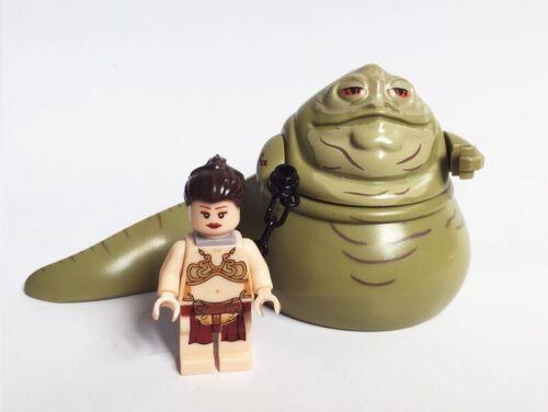 LEIA /& GUARD RARE STAR WARS JABBA THE HUTT SET OF 3 LEGO MINIFIGURE COMPATIBLE
