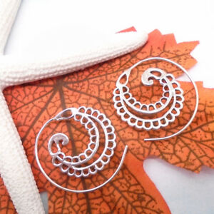 Bali-Hippie-Gipsy-Design-Ohrringe-Creolen-Ringe-Spirale-925-Sterling-Silber-neu