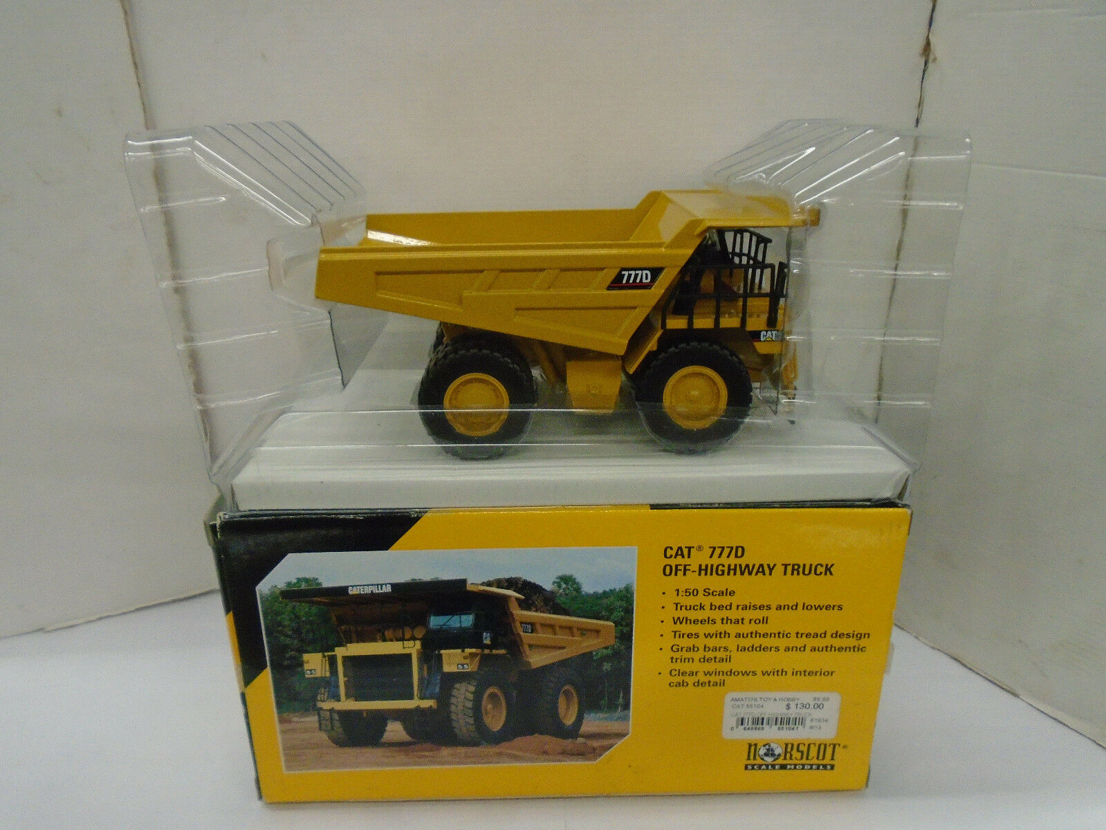 NORSCOT  55104 1 50 SCALE CAT 777D OFF-HIGHWAY TRUCK NEW IN BOX