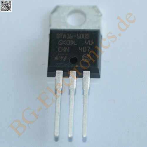 5 x BTA16-600B TRIAC 16A 600V  BTA16600B STM TO-220 5pcs