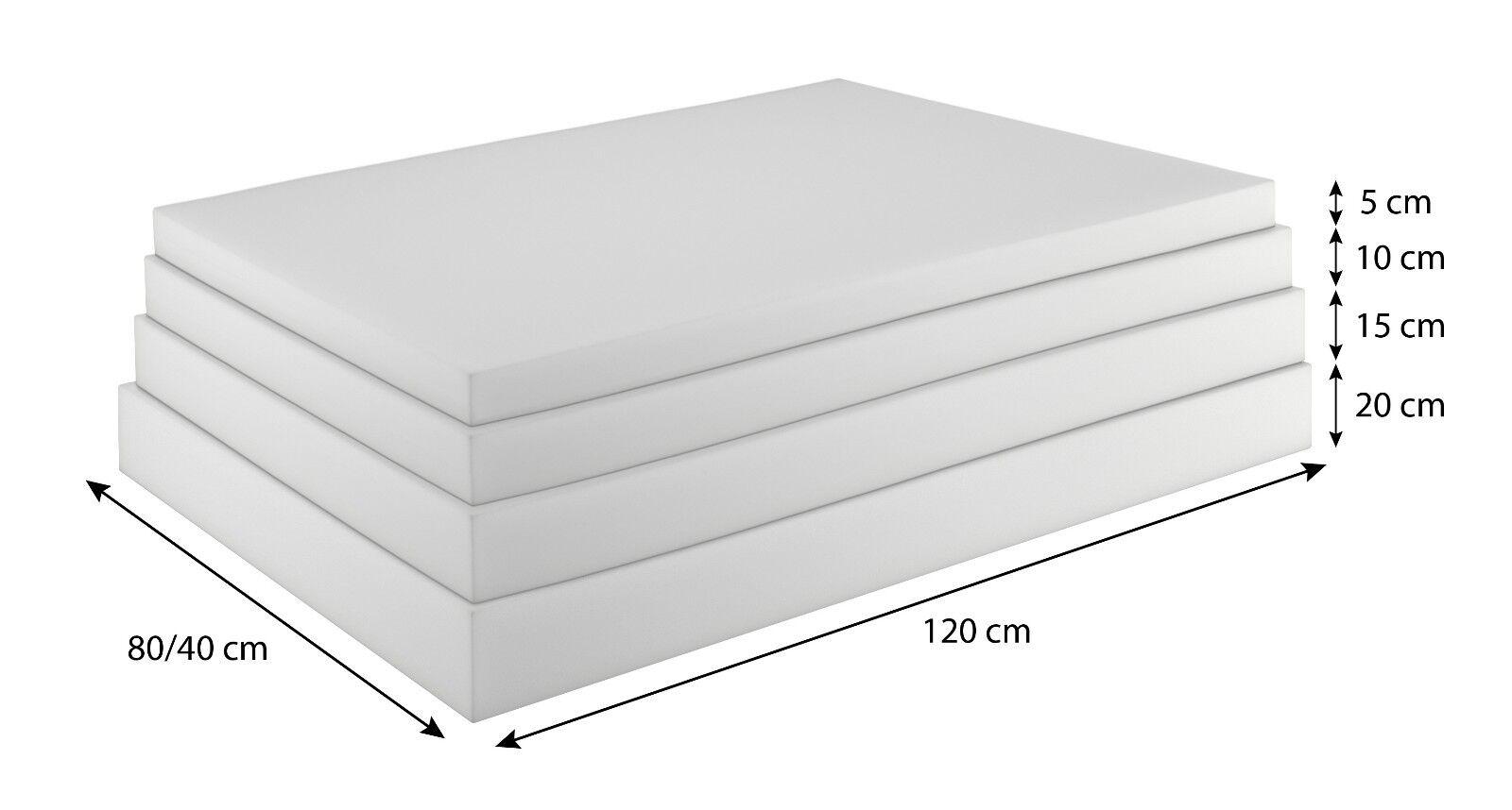 Schaumstoffplatte für Europalette Polsterauflage Matratze Zuschnitt 120x80cm
