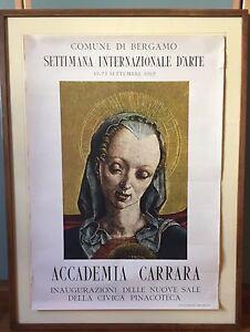 POSTER-BERGAMO-ARTE-ACCADEMIA-CARRARA-ISTITUTO-ITALIANO-ARTI-GRAFICHE-1962