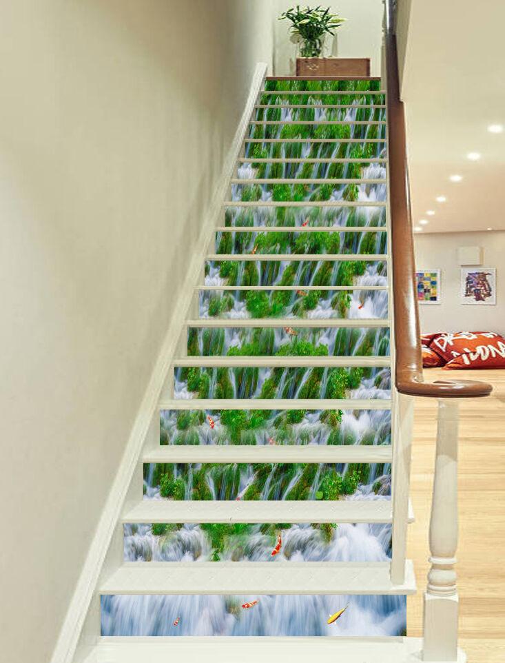 3D Gras Strom 2855 Stair Risers Dekoration Fototapete Vinyl Aufkleber Tapete DE