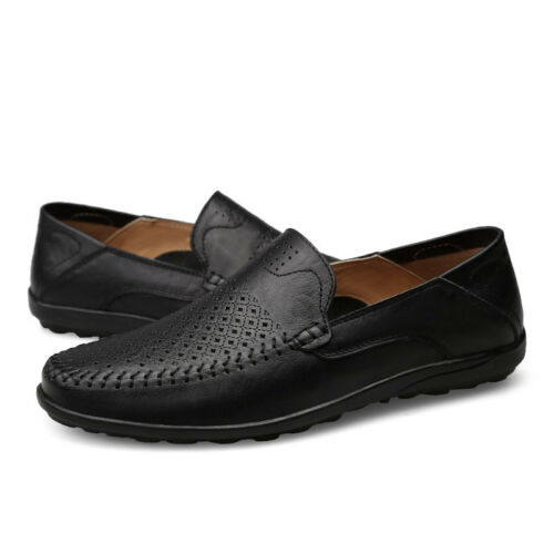 NEW Men/'s Casual Driving Boat Leather Shoes Moccasin Slip On Loafers UK SIZE