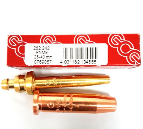 GCE Schneiddüse PNME 25-40 mm Propan Erdgas unverchromt f X511 2tlg.