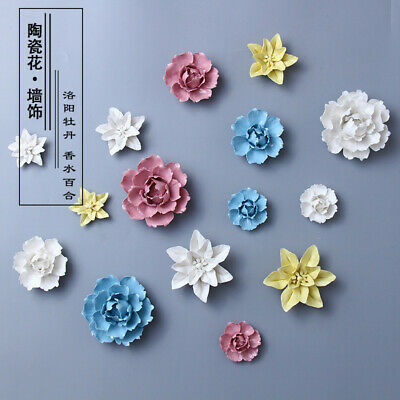 Ceramic Flower Wall Decor Hangings