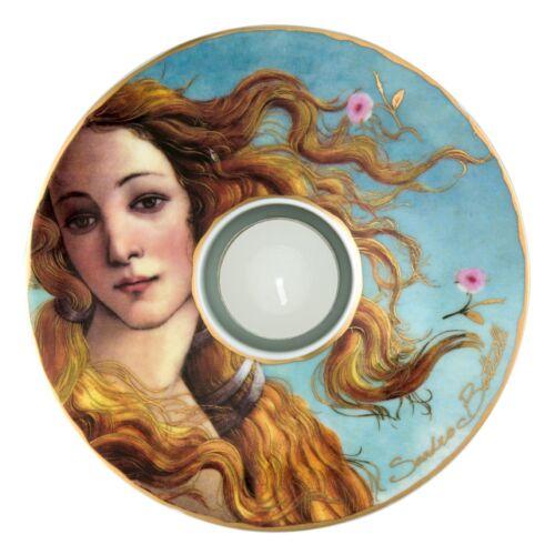 GOEBEL PORZELLAN TEELICHTHALTER  Botticelli - Die Geburt der Venus - NEU !!