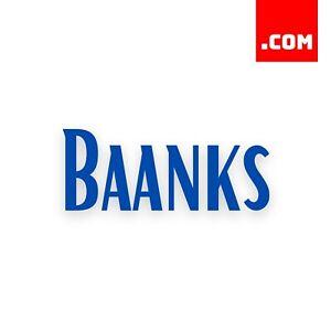 Baanks.com - $932 EstiBot Valued Domain Name - Dynadot COM Premium Domains