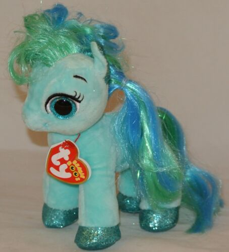 """New 2018 Summer Release Ty Beanie Boos TOPAZ the little pony  6/"""" new foil look"""