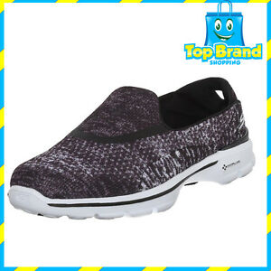 62463aac1f10 Skechers Womens Go Walk 3 - GLISTEN 3 black white Gym Shoes ALL ...
