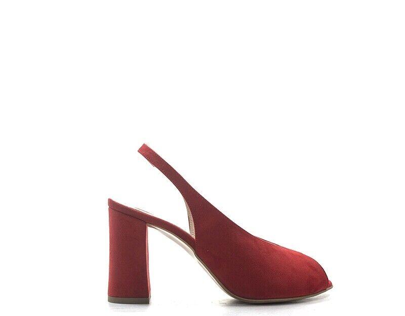Skor svartfumo kvinna röd FABRIC, SUEDE 2351 -535 -RO -RO -RO  billigaste priset