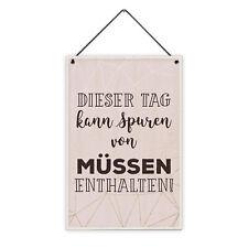 Hase mit Zylinder Brille 20 x 30 cm Holz-Schild 8 mm Motiv Geschenk-Idee Ostern